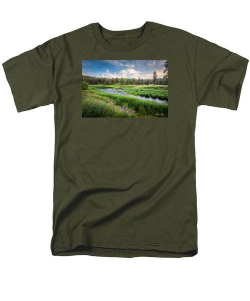 Men's T-Shirt  (Regular Fit) featuring the photograph Spring River Valley by Rikk Flohr