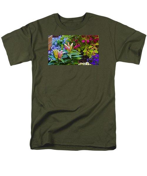 Spring Show 15 Lilies Men's T-Shirt  (Regular Fit) by Janis Nussbaum  Senungetuk