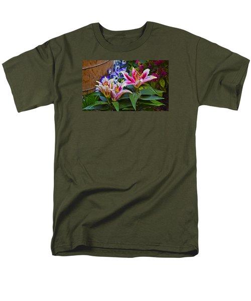 Spring Show 15 Lily Trio Men's T-Shirt  (Regular Fit) by Janis Nussbaum Senungetuk