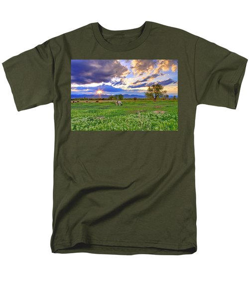 Spring Sunset Over The Rockies Men's T-Shirt  (Regular Fit) by Scott Mahon