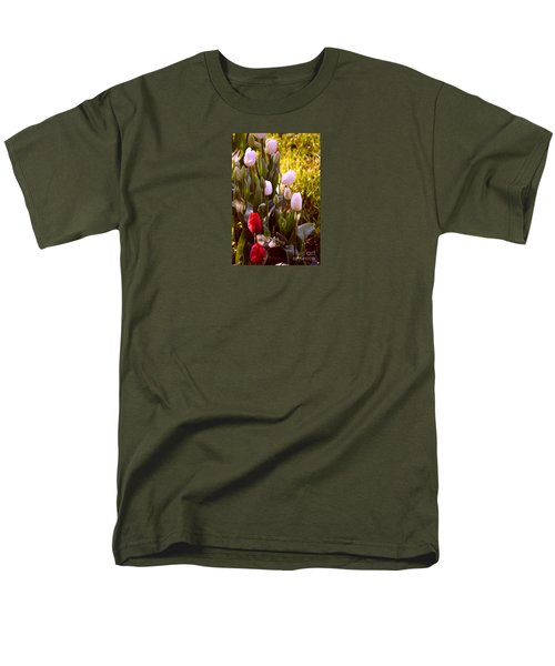 Men's T-Shirt  (Regular Fit) featuring the photograph Spring Time Tulips by Susanne Van Hulst