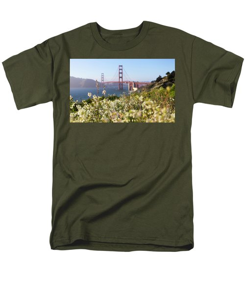 Men's T-Shirt  (Regular Fit) featuring the photograph Springtime On The Bay by Everet Regal