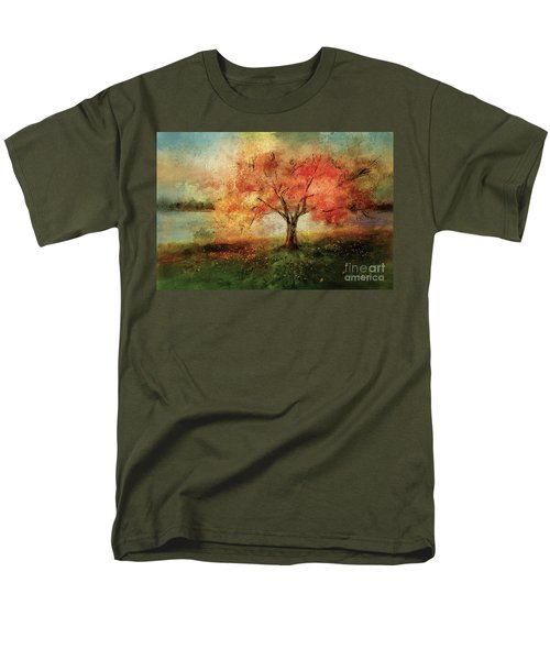 Men's T-Shirt  (Regular Fit) featuring the digital art Sprinkled With Spring by Lois Bryan