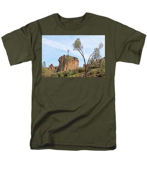 Men's T-Shirt  (Regular Fit) featuring the photograph Square Rock Formation by Art Block Collections
