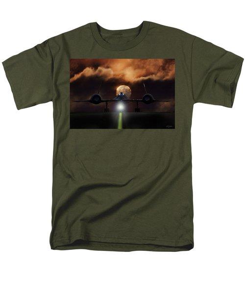Men's T-Shirt  (Regular Fit) featuring the digital art Sr-71 Supermoon by Peter Chilelli