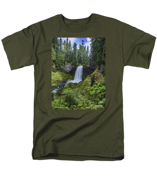 Sahalie Falls,oregon Men's T-Shirt  (Regular Fit) by Nancy Marie Ricketts