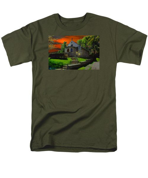 Men's T-Shirt  (Regular Fit) featuring the photograph St. Anne's Chapel by Michael Rucker
