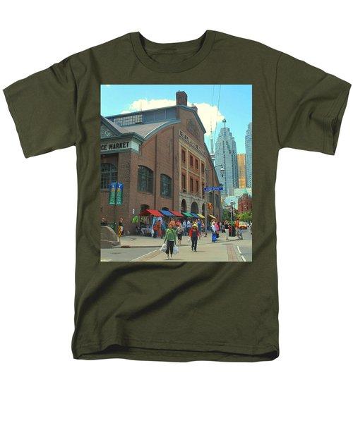 St Lawrence Market Men's T-Shirt  (Regular Fit) by Ian  MacDonald