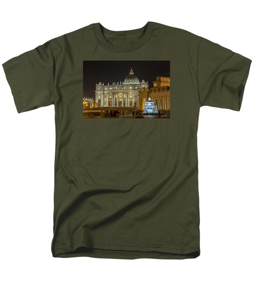 St. Peter Basilica Men's T-Shirt  (Regular Fit) by Ed Cilley