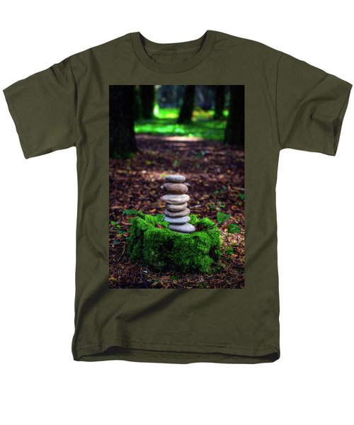 Men's T-Shirt  (Regular Fit) featuring the photograph Stacked Stones And Fairy Tales Iv by Marco Oliveira