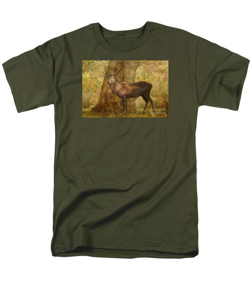 Stag Party Autumn Shade Men's T-Shirt  (Regular Fit) by Linsey Williams