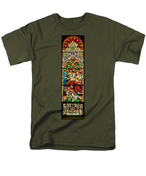 Men's T-Shirt  (Regular Fit) featuring the photograph Stained Glass Scene 1 - 3 by Adam Jewell