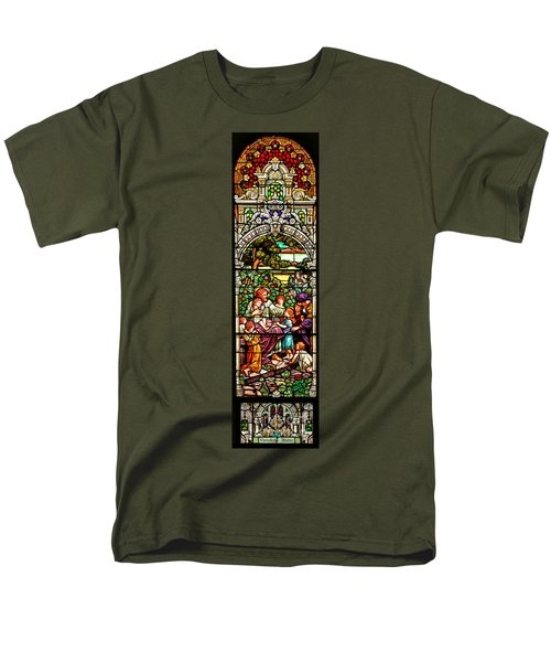 Men's T-Shirt  (Regular Fit) featuring the photograph Stained Glass Scene 12 Crop by Adam Jewell