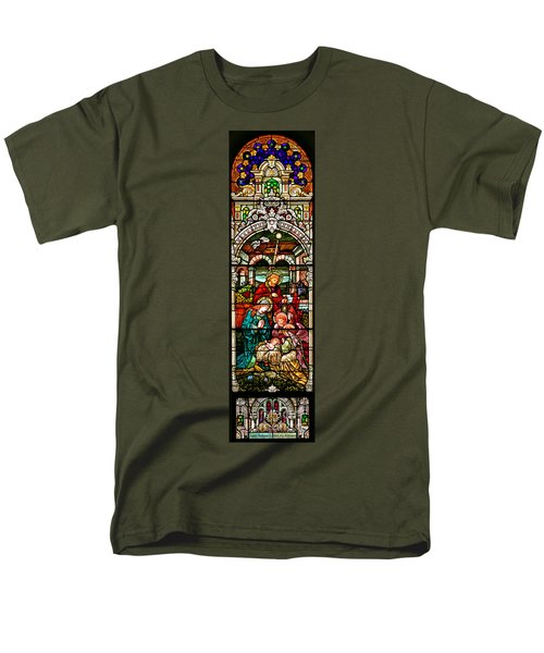 Men's T-Shirt  (Regular Fit) featuring the photograph Stained Glass Scene 4 by Adam Jewell