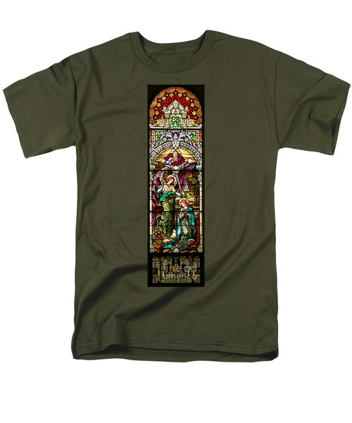 Men's T-Shirt  (Regular Fit) featuring the photograph Stained Glass Scene 5 Crop by Adam Jewell