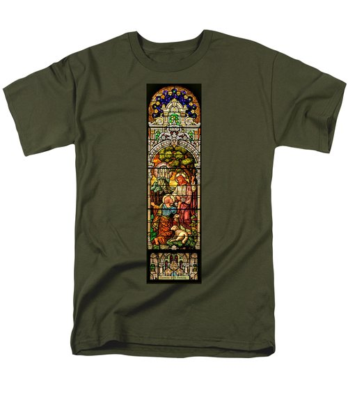 Men's T-Shirt  (Regular Fit) featuring the photograph Stained Glass Scene 9 by Adam Jewell