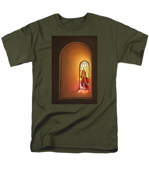 Men's T-Shirt  (Regular Fit) featuring the photograph Stained Glass Window by Inge Riis McDonald