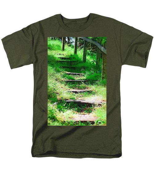 Men's T-Shirt  (Regular Fit) featuring the photograph Stairway To Heaven by Donna Bentley