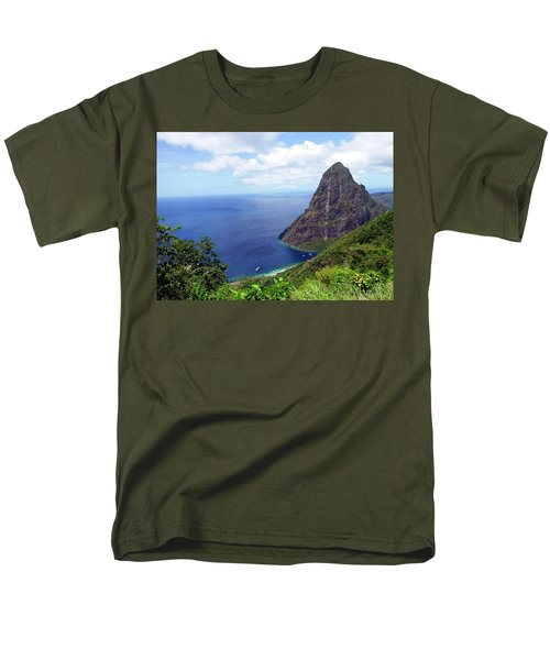 Men's T-Shirt  (Regular Fit) featuring the photograph Stairway To Heaven View, Pitons, St. Lucia by Kurt Van Wagner