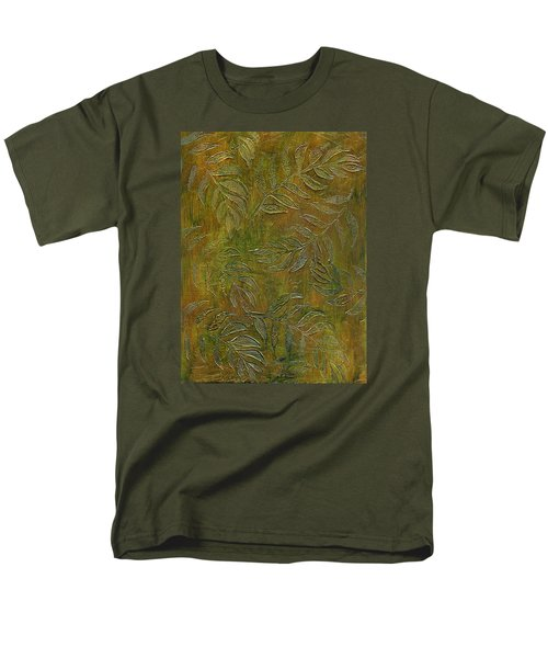 Stamped Textured Leaves Men's T-Shirt  (Regular Fit) by Sandra Foster
