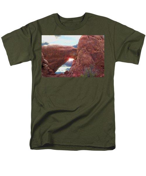 Men's T-Shirt  (Regular Fit) featuring the digital art Star Arch by Gary Baird