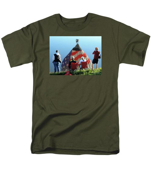 Men's T-Shirt  (Regular Fit) featuring the painting Star Spangled Morning by Tom Riggs