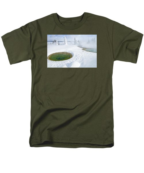 Men's T-Shirt  (Regular Fit) featuring the photograph Steam And Snow by Gary Lengyel