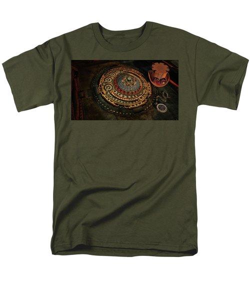 Steampunk Men's T-Shirt  (Regular Fit) by Louis Ferreira