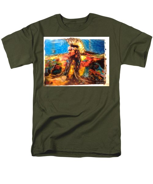 Men's T-Shirt  (Regular Fit) featuring the painting Stepping Into The Soul by FeatherStone Studio Julie A Miller