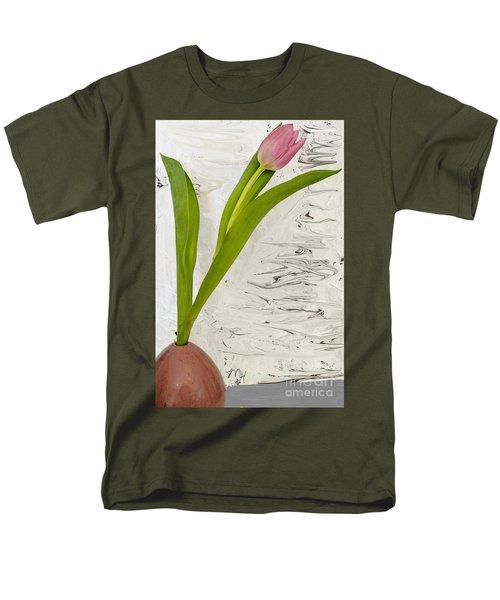 Men's T-Shirt  (Regular Fit) featuring the photograph Still Life Tulip by Marsha Heiken