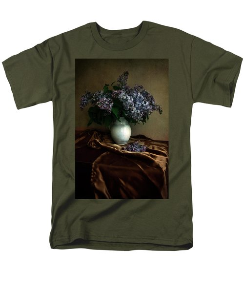 Men's T-Shirt  (Regular Fit) featuring the photograph Still Life With Bouqet Of Fresh Lilac by Jaroslaw Blaminsky