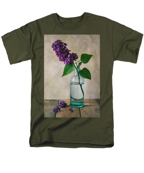 Men's T-Shirt  (Regular Fit) featuring the photograph Still Life With Fresh Lilac by Jaroslaw Blaminsky