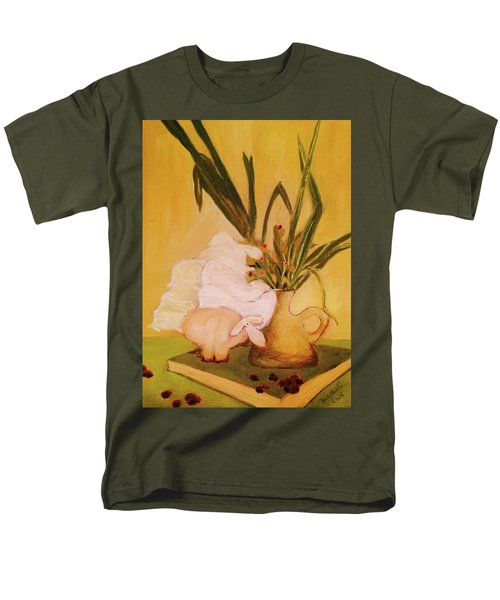 Men's T-Shirt  (Regular Fit) featuring the pastel Still Life With Funny Sheep by Manuela Constantin