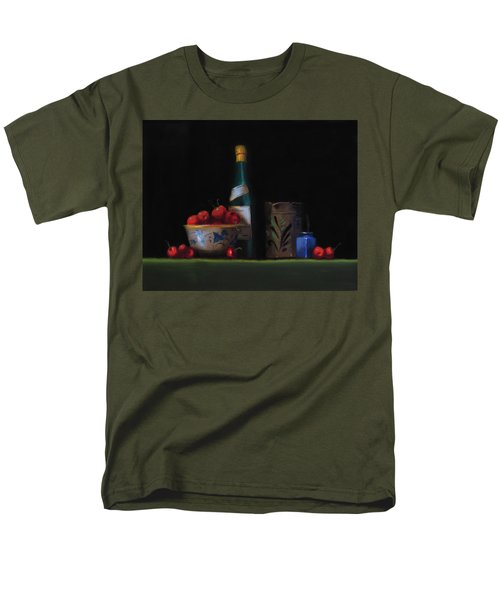 Men's T-Shirt  (Regular Fit) featuring the painting Still Life With The Alsace Jug by Barry Williamson
