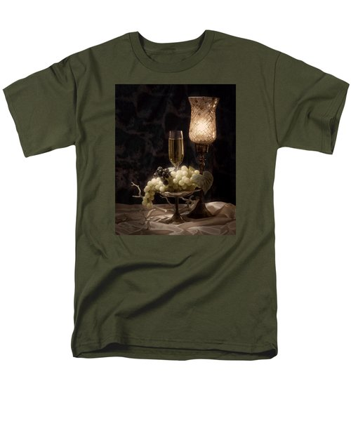 Still Life With Wine And Grapes Men's T-Shirt  (Regular Fit) by Tom Mc Nemar