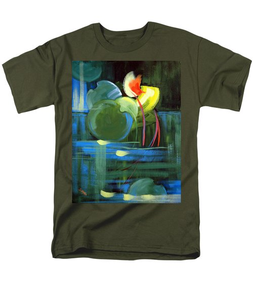 Men's T-Shirt  (Regular Fit) featuring the painting Still Water by Suzanne McKee