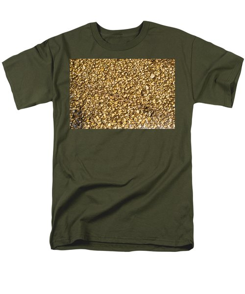 Men's T-Shirt  (Regular Fit) featuring the photograph Stone Chip On A Wall by John Williams