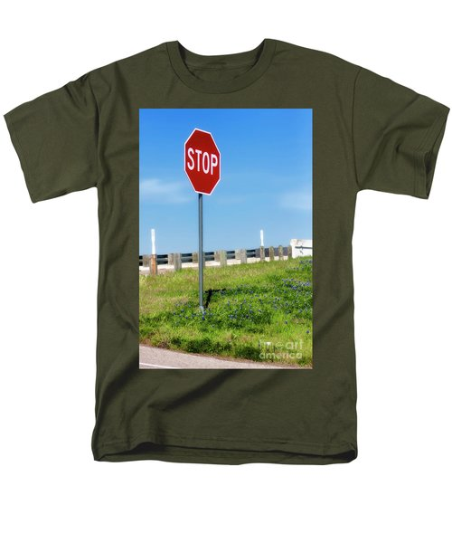 Stop For The Blue Bonnets Men's T-Shirt  (Regular Fit) by Joan Bertucci