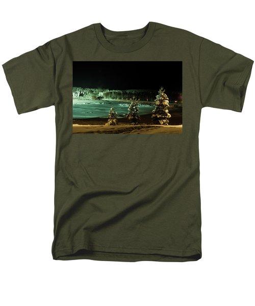 Storforsen In Night Men's T-Shirt  (Regular Fit) by Tamara Sushko