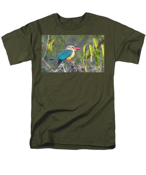 Stork-billed Kingfisher Men's T-Shirt  (Regular Fit) by Pravine Chester