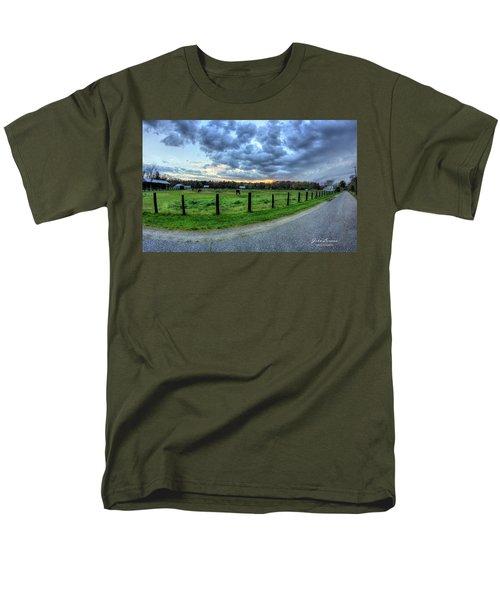 Storm Clouds Over Main Street Men's T-Shirt  (Regular Fit) by John Loreaux