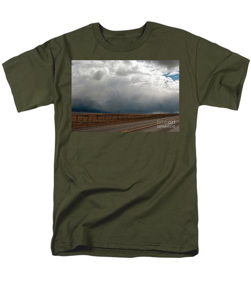 Storm On Route 287 N Of Ennis Mt Men's T-Shirt  (Regular Fit) by Cindy Murphy - NightVisions