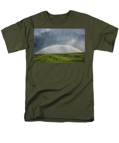 Men's T-Shirt  (Regular Fit) featuring the photograph Stormy Rainbow by Ryan Crouse