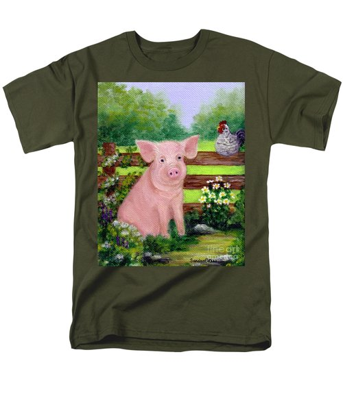 Storybook Pig Men's T-Shirt  (Regular Fit) by Sandra Estes