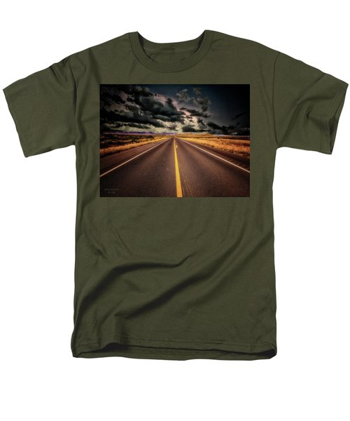 Straight Lines  ... Men's T-Shirt  (Regular Fit) by Chuck Caramella