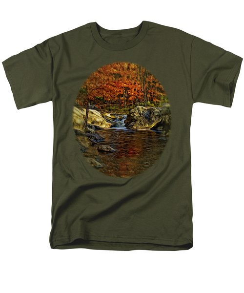Stream In Autumn 57 In Oil Men's T-Shirt  (Regular Fit) by Mark Myhaver