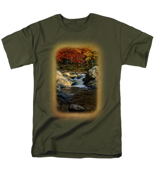 Stream In Autumn No.17 Men's T-Shirt  (Regular Fit) by Mark Myhaver
