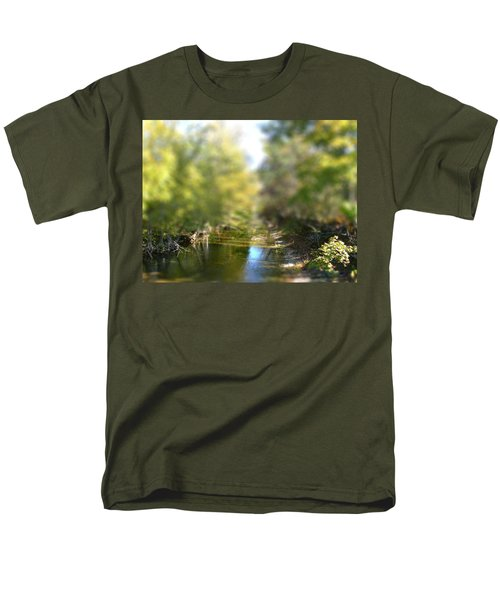 Men's T-Shirt  (Regular Fit) featuring the photograph Stream Reflections by EricaMaxine  Price