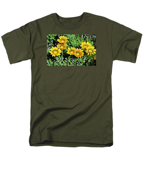 Men's T-Shirt  (Regular Fit) featuring the photograph Striped Daisies--film Image by Matthew Bamberg