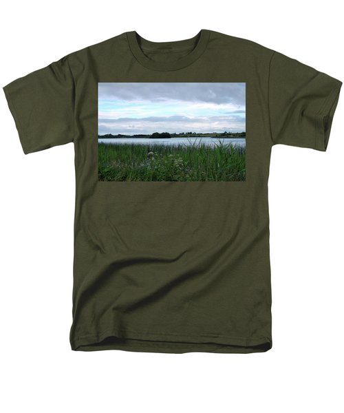 Men's T-Shirt  (Regular Fit) featuring the photograph Strolling By The Lake by Terence Davis
